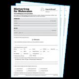 Wohnraum-Mietvertrag (gedruckt, mit Durchschlag)